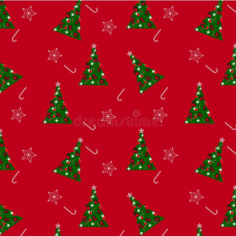 Der Weihnachtshintergrund stock abbildung
