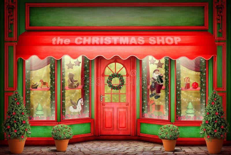 Der Weihnachtsshop lizenzfreies stockbild