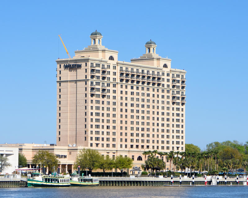 Der Westin Savannah Harbor Golf Resort u. Badekurort lizenzfreie stockbilder