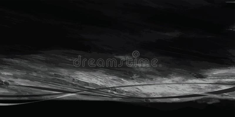 Der Wind in der Landschaftskunstzusammenfassungs-Bürstenmalerei für Hintergrund lizenzfreie abbildung
