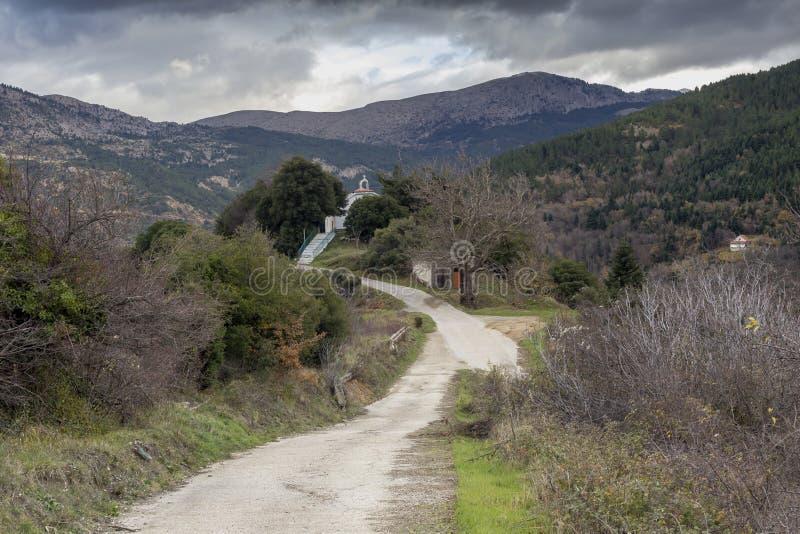 Der Winter in den Bergen Griechenland, Peloponnes lizenzfreie stockfotos