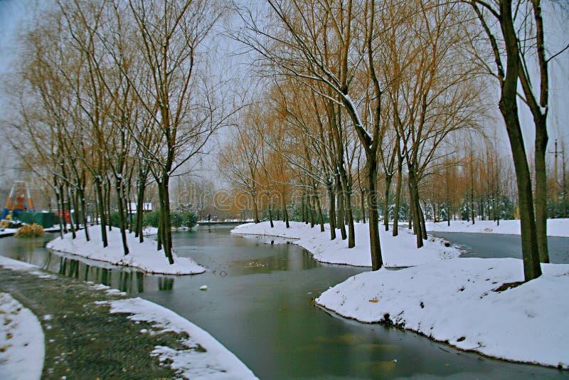 Der Winterreim des Suis und des Tang Dynastiess stockfotos