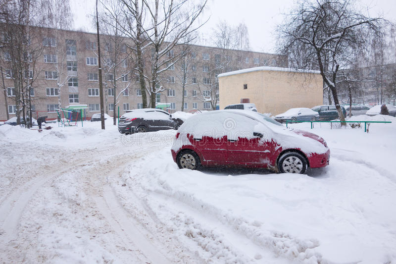 Der Wirbelsturm Emma in der Brisov-Stadt stockfoto