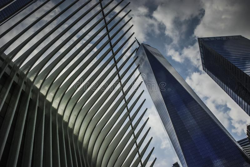 Der World Trade Center-Transport Hub– und das Oculus, New York lizenzfreie stockfotografie