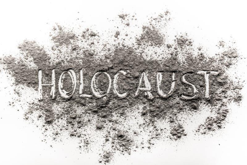 Der Wort Holocaust geschrieben in Asche lizenzfreie abbildung
