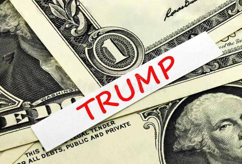 Der Wort Trumpf stockfotografie