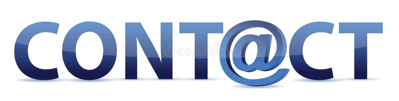 Der Wortkontakt mit eMail alias lizenzfreie abbildung
