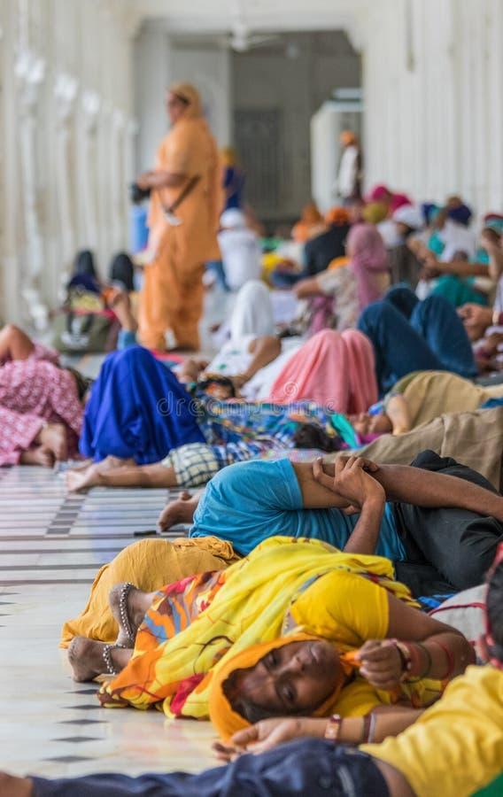 Der wunderbare goldene Tempel von Amritsar, Indien stockfotos