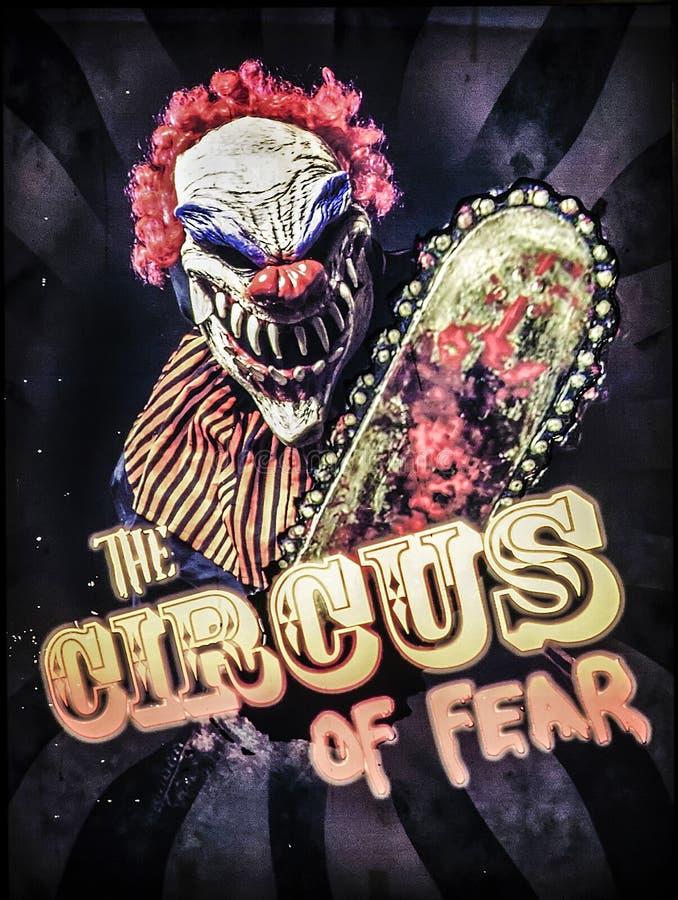 Der Zirkus von Furcht stockbilder