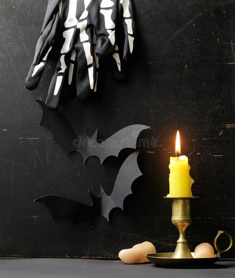 Der Zusammensetzungsdekor für Halloween stockbild