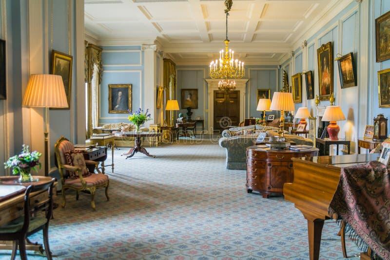 Der Zustands-Salon, Hillsborough-Schloss, Nordirland lizenzfreies stockfoto