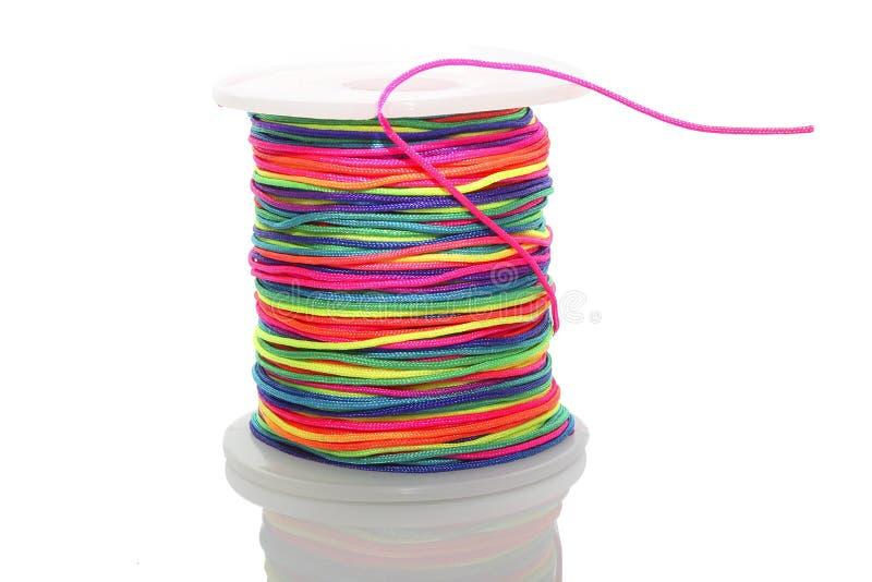 Der Zylinder der farbigen Schnur lizenzfreies stockbild