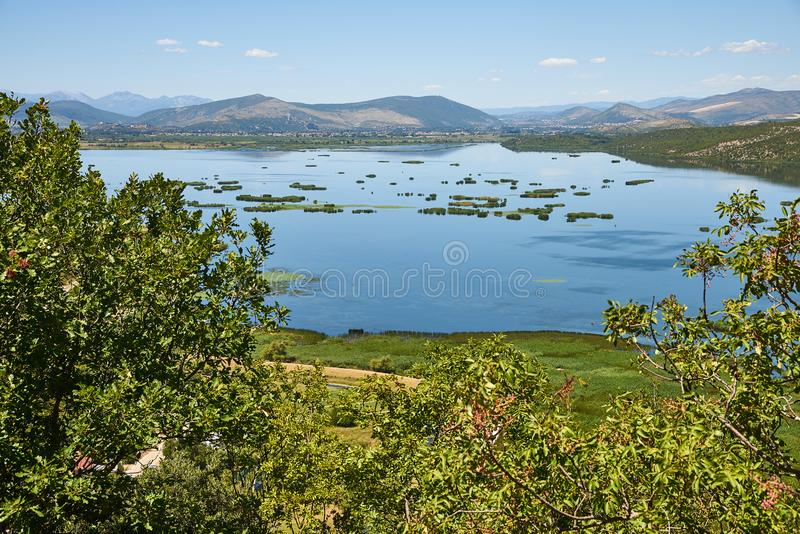 Hutovo Blato Nature Park, Bosnia and Herzegovina. The Deransko Lake, part of the Hutovo Nature Reserve and Bird Reserve in Bosnia and Herzegovina, near the town royalty free stock image