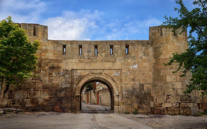 Derbent市墙壁 库存图片