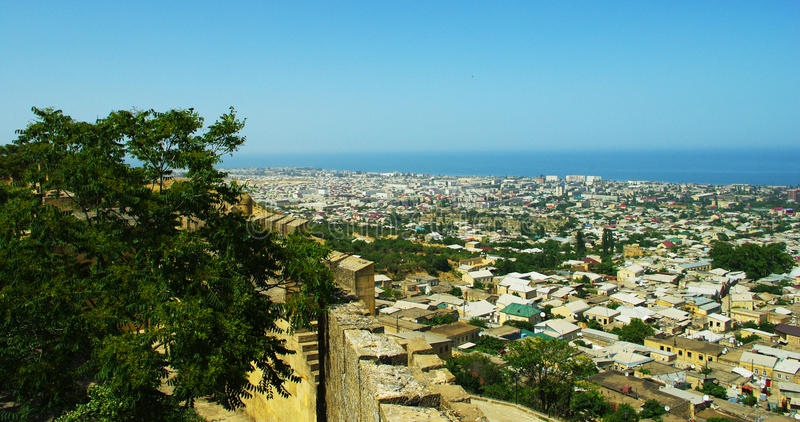 Derbent city view from above stock photography