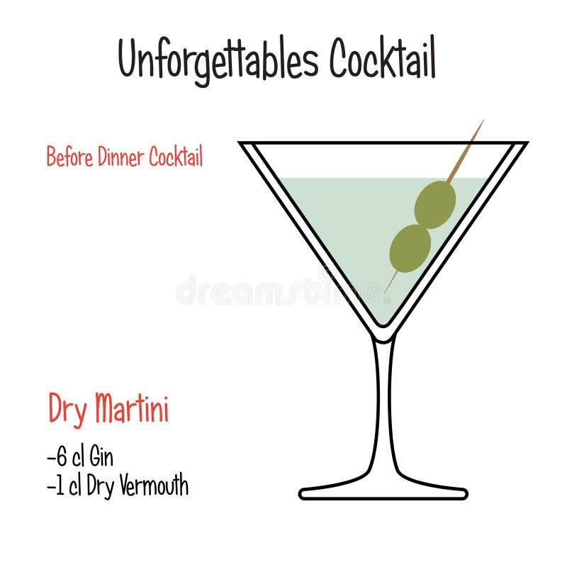 Derby alkoholicznego koktajlu wektorowy ilustracyjny przepis odizolowywający royalty ilustracja