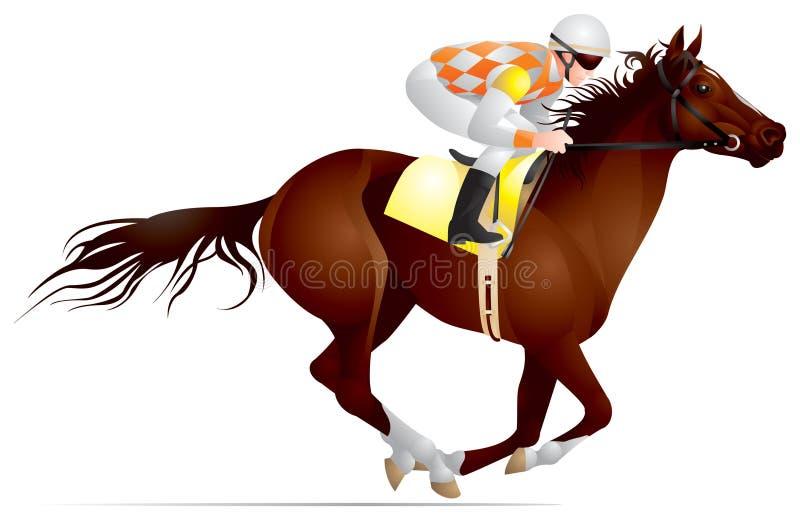 Derby, chemin de cheval illustration de vecteur