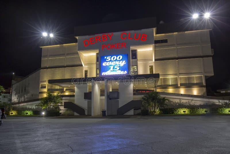 Derby Club Poker arkivbild