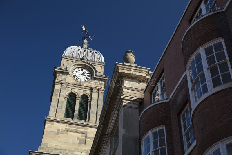 Derby, Derbyshire, R-U : En octobre 2018 : Clocktower de Derby Guildha image libre de droits