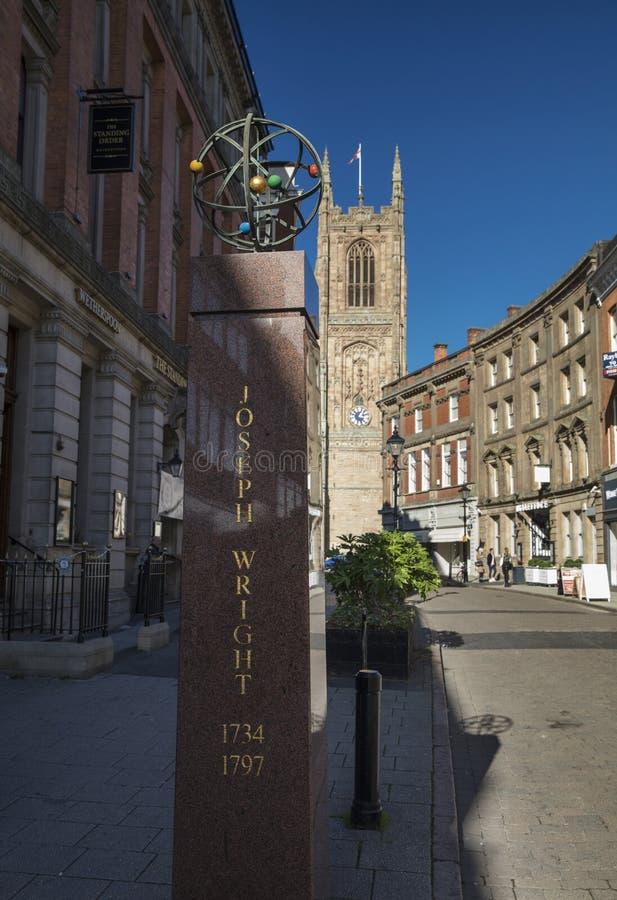 Derby, Derbyshire, R-U : En octobre 2018 : Joseph Wright Memorial image stock
