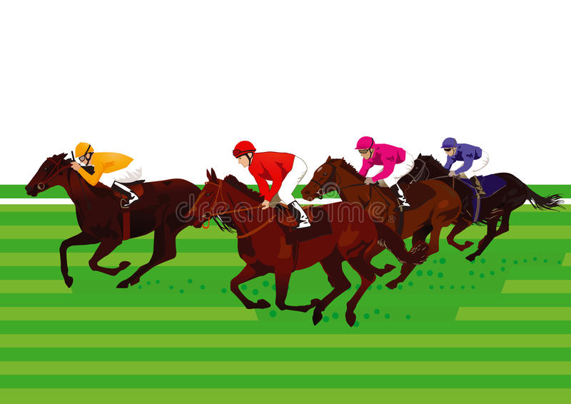 Derby e corrida de cavalos ilustração royalty free