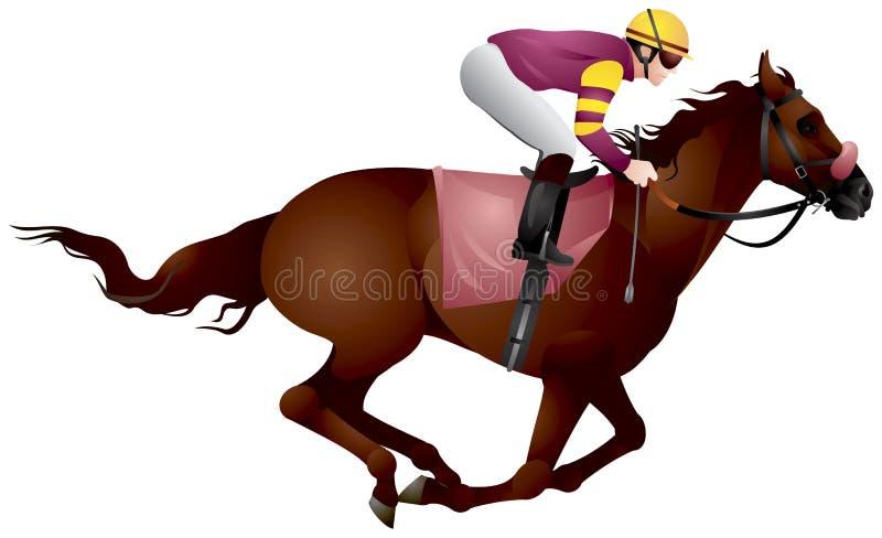 Derby, Ruitersportpaard en ruiter in vectorvariant 8 royalty-vrije illustratie