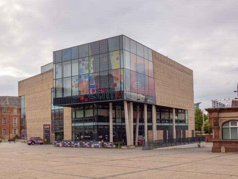 DERBY, UNITED KINGDOM - May 24, 2020 - View of The Quad visual arts gallery in the city centre, Derby,. Derbyshire, England, UK, Western Europe royalty free stock images