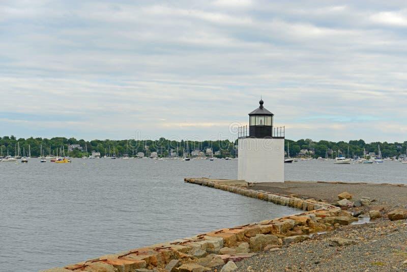 Derby Wharf Lighthouse, Salem, Massachusetts, U.S.A. fotografie stock libere da diritti