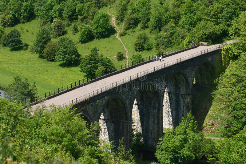 derbyshire head monsal viaduct arkivfoton