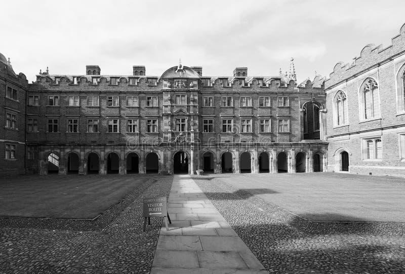 Derde Hof bij St John Universiteit in zwart-wit royalty-vrije stock foto's
