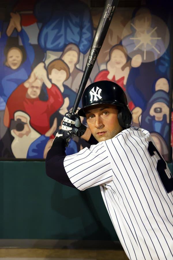 Derek Jeter w Madame Tussauds Nowy Jork zdjęcie royalty free