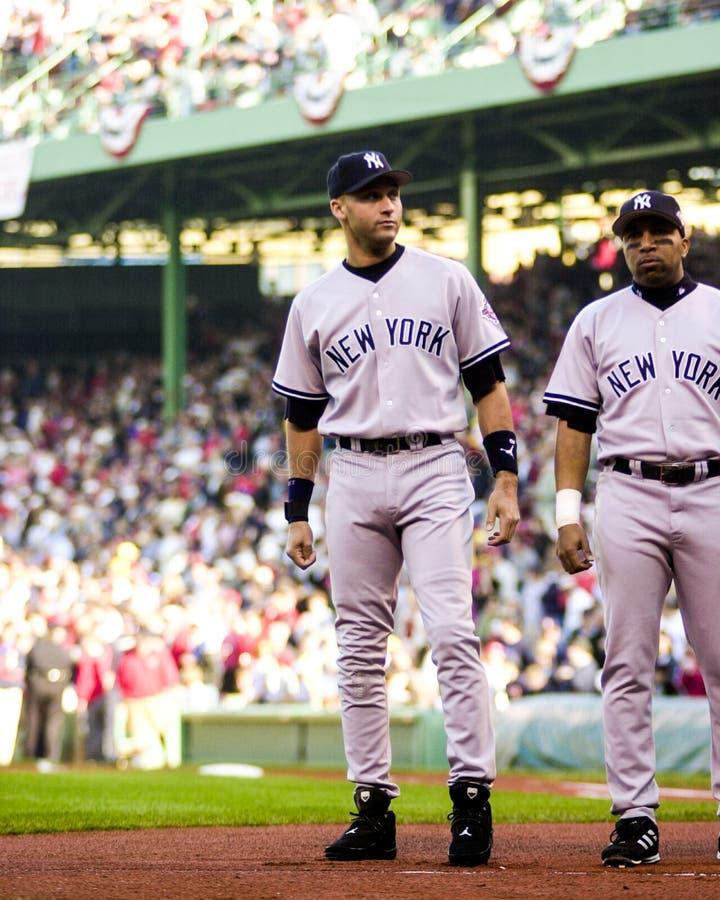 Derek Jeter, Yankees de New York photo libre de droits