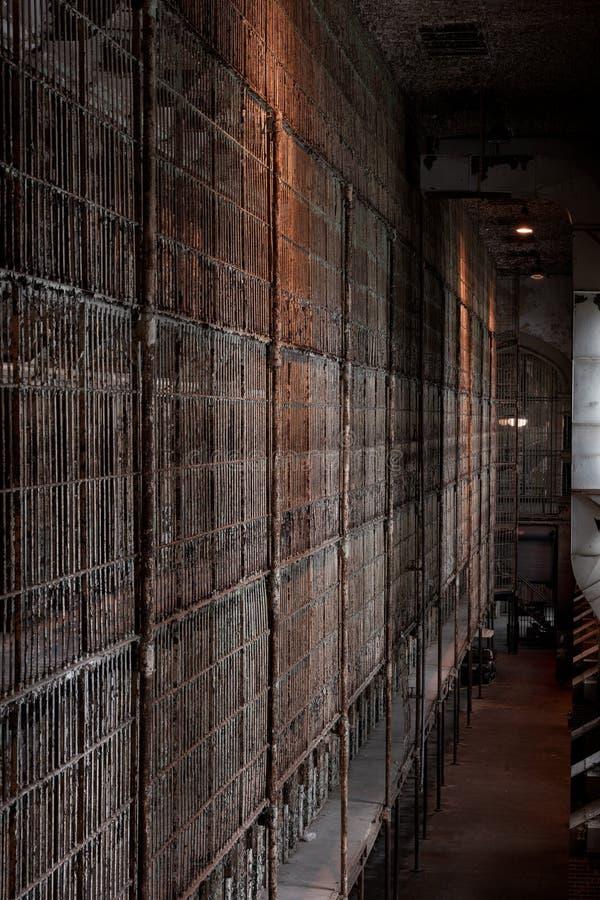 Derelicon Cell Block - Ohio State Reformatory Prison - Mansfield, Ohio immagini stock libere da diritti