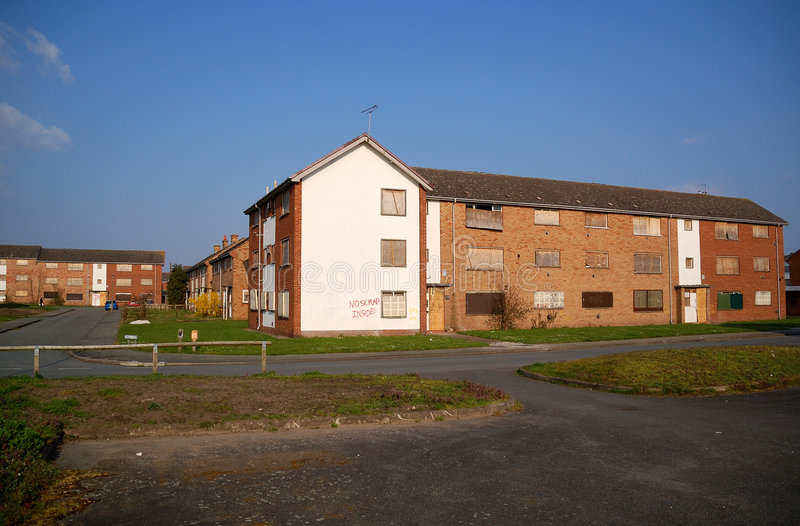 Derelict Apartments Stock Photography