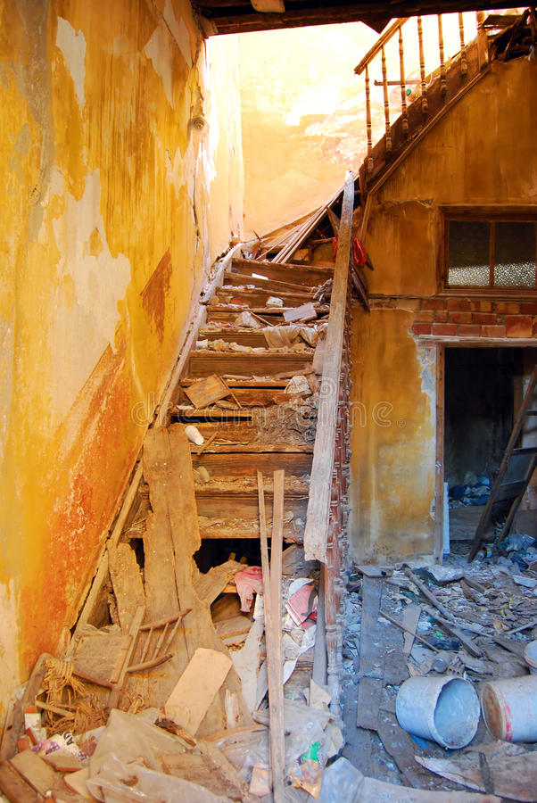 Download Derelict building stock image. Image of dirty, abandonment - 12254697