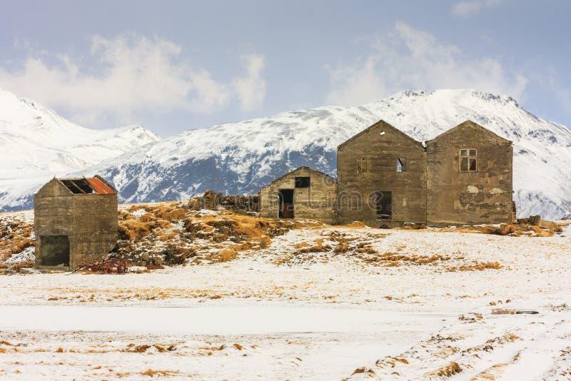 Derelict farm stock images