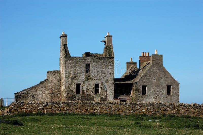Derelict Farm House stock photos