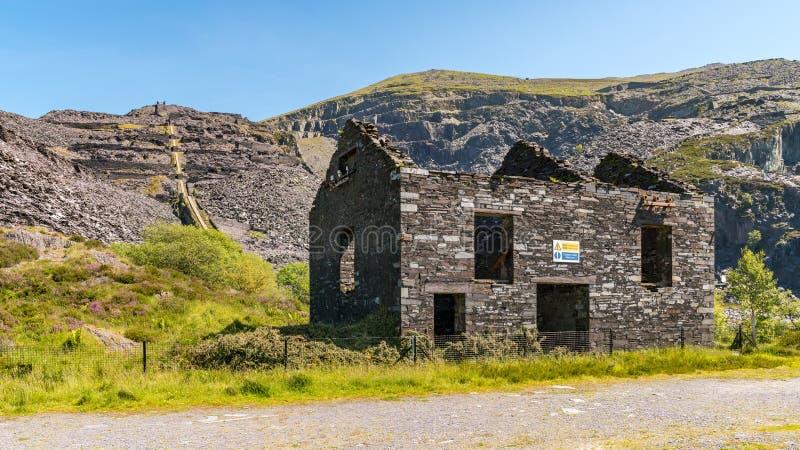 Dinorwic Quarry, near Llanberis, Gwynedd, Wales, UK. Derelict house at Dinorwic Quarry near Llanberis, Gwynedd, Wales, UK royalty free stock images
