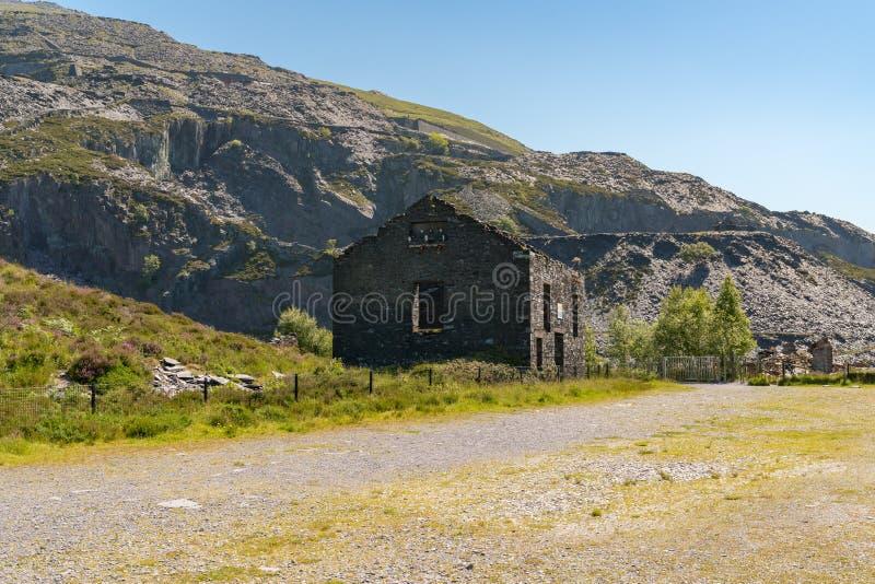 Dinorwic Quarry, near Llanberis, Gwynedd, Wales, UK. Derelict house at Dinorwic Quarry near Llanberis, Gwynedd, Wales, UK stock photo