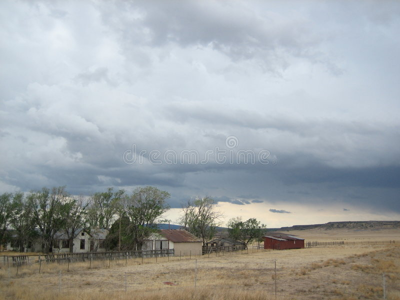 Derelict House in New Mexico stock photography
