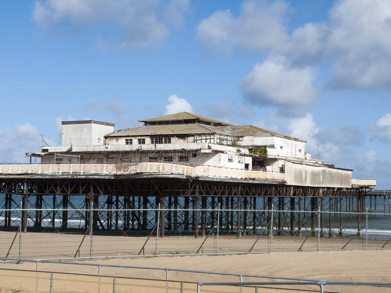 Derelict pier royalty free stock photography