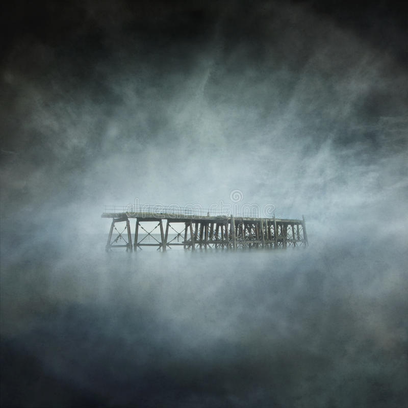 Derelict Pier stock photo