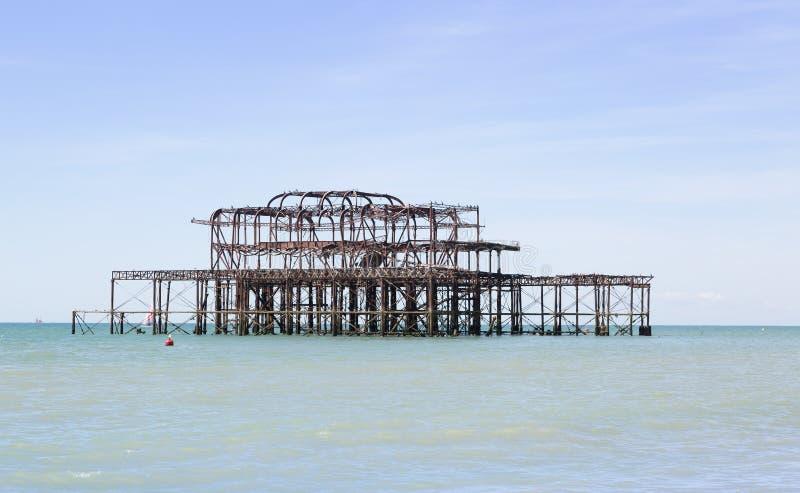 Derelict pier stock photography