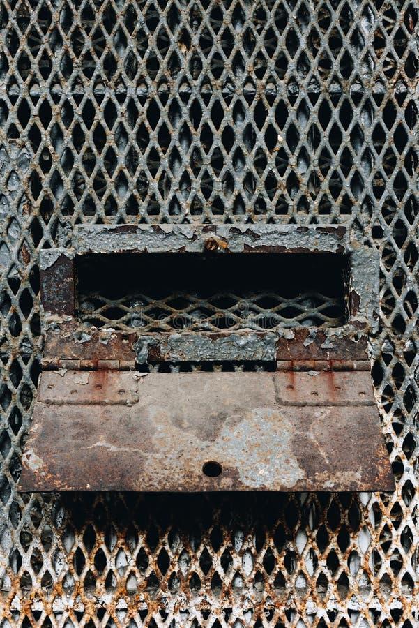 Derelict Prison Cell Slot - Prisão Reformatória do Estado de Ohio - Mansfield, Ohio fotografia de stock royalty free