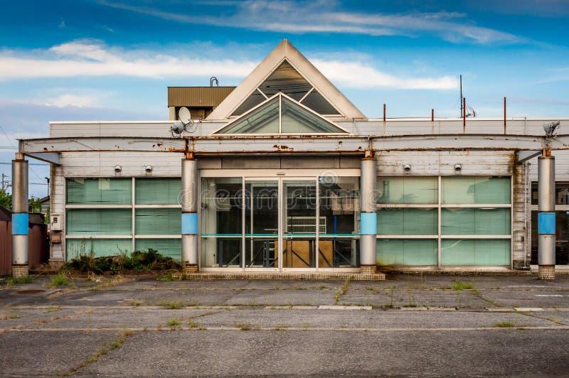 Derelict roadside shop building, Kanazawa Japan. royalty free stock photos