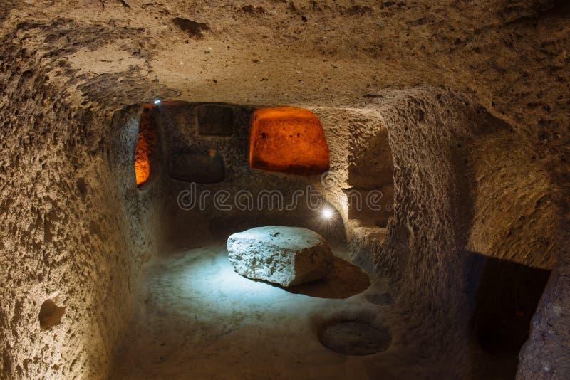 Derinkuyu Podziemny miasto w Cappadocia, Turcja obrazy stock