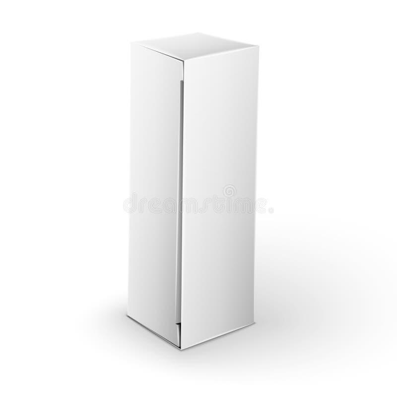 Derisione bianca del contenitore di pacchetto del prodotto sul modello royalty illustrazione gratis