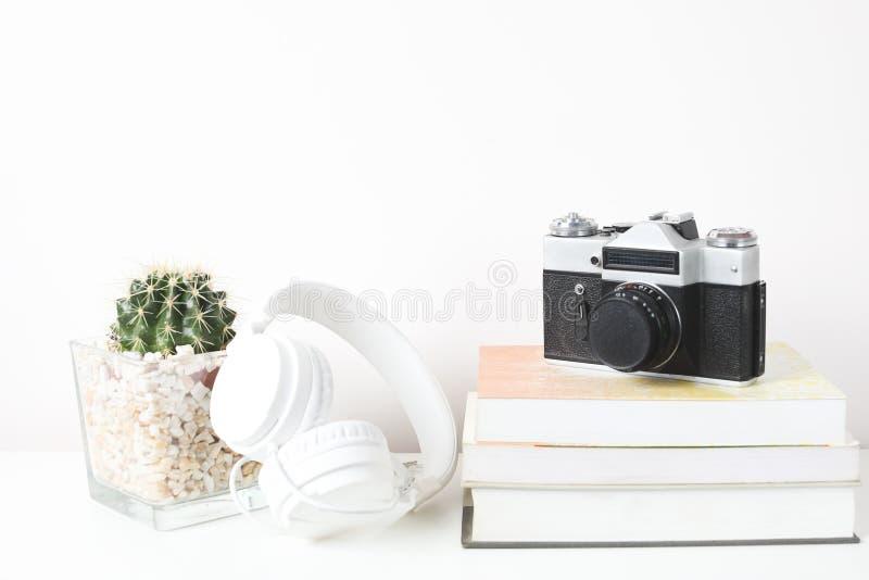 Derisione bianca della struttura su su uno scaffale di libro isolato su fondo bianco fotografia stock libera da diritti