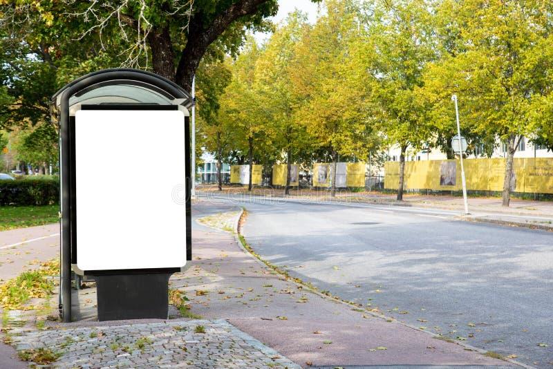 Derisione in bianco del tabellone per le affissioni su fotografia stock libera da diritti