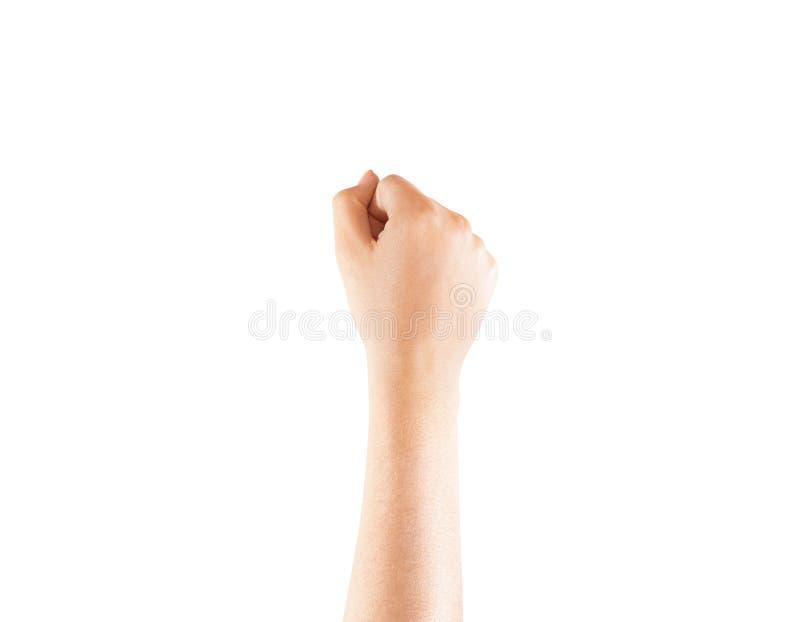 Derisione in bianco della mano del polso del tatuaggio su, isolato immagini stock